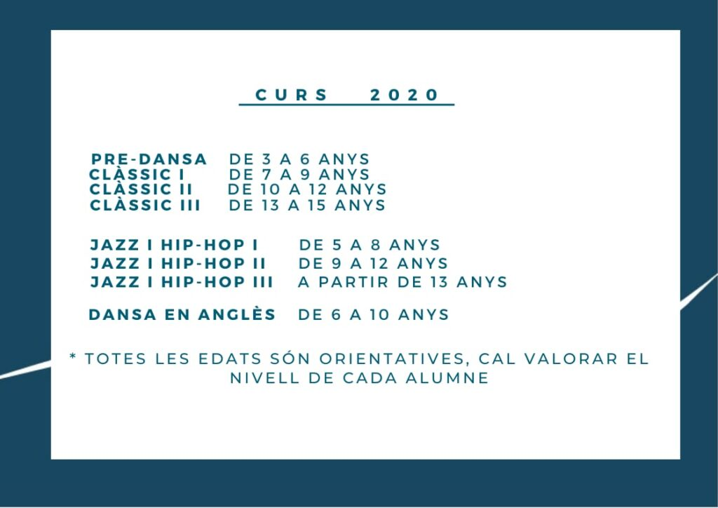 Classes i edats curs 2020